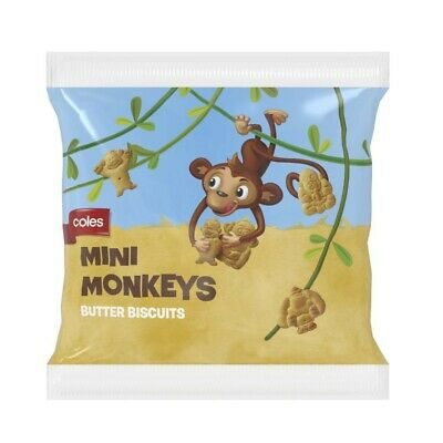 Coles Mini Monkeys Butter Biscuits 10 Multipack 250g