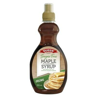 Queen Sugar Free Maple Flavoured Syrup 355mL