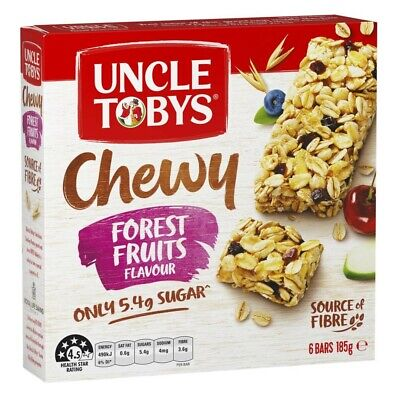 Uncle Tobys Chewy Muesli Bars Forest Fruits 6 Pack 185g