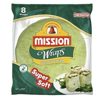 Mission Spinach & Herb Wraps 8 pack 567g