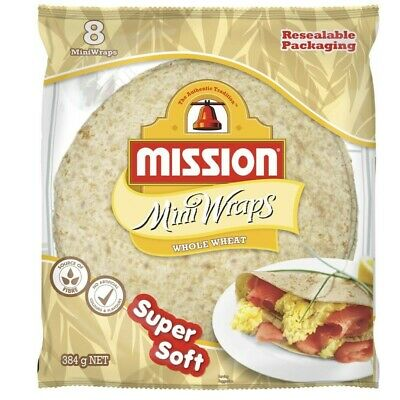Mission Wholewheat Mini Wraps 8 pack 384g