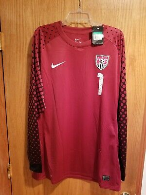 309b942bc Nike USA Soccer USMNT 2010/2011 Tim Howard #1 LS Goalkeeper Jersey Red Size