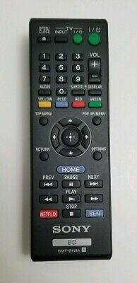 USBRMT Remote RMT-B119A For Sony DVD Blu-Ray Player BDP-S590WM BDP-S5100