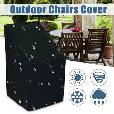 Waterproof Stacking Chair Cover Outdoor Garden Parkland Patio Furniture Cover US