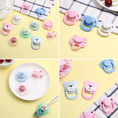 Handmade Kids Toy DIY Simulation Doll Magnet Pacifier Dummy Nipples New Baby