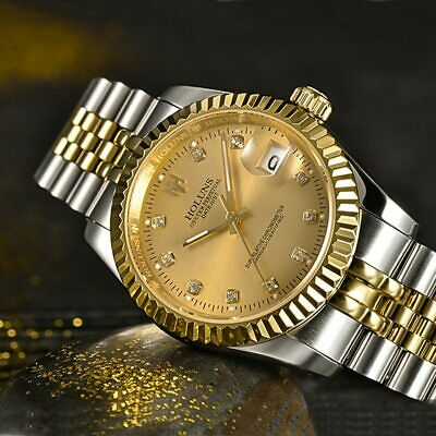 Classic Automatic Mechanical Business Luxury Watch Men Watches Swiss Steel Dial