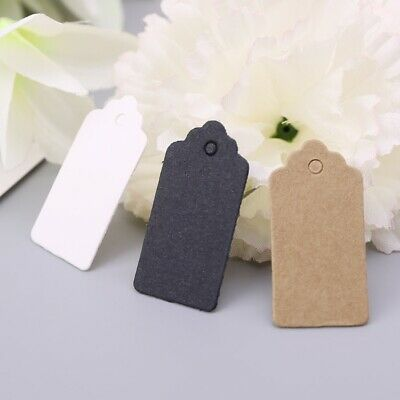 100pcs Vintage Kraft Paper Gift Hang Tags Jewelry Price Label Craft Decor 2x4cm