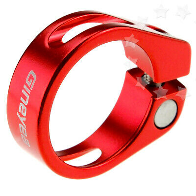 31.8mm Smooth MTB Bike Cycling Red Saddle Seat Post Clamp Wear-resistant