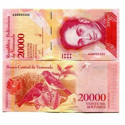 Venezuela 20000 Bolivares Fuertes 2017- 25 PCS -- clean circulated currency USED