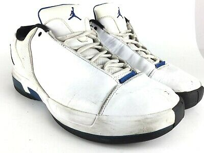 pretty nice 3238a 79fc6 Nike Air Jordan TE3 III LOW Mens Size 11.5 453454-107 White Varsity Royal  Black