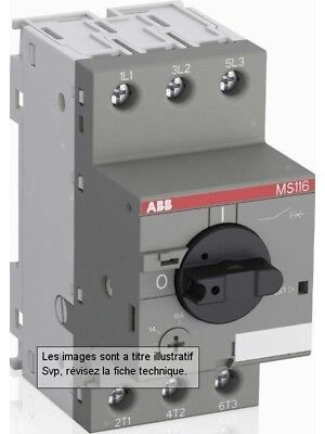 ABB Disjoncteur moteur MS116 0.25 à 0.40A-1SAM250000R1003-Demarrage direct