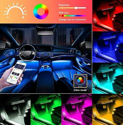 Car LED Strip Lights Interior Music Sound Activated App Control Water Resistant