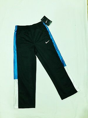 1242f7a79284 NWT  30 NIKE Boys SIZE 4 Tricot Athletic Pants BLACK BLUE Track ...
