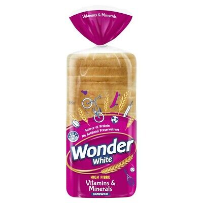 Wonder White Sandwich Bread +7 Vitamins & Minerals 700g