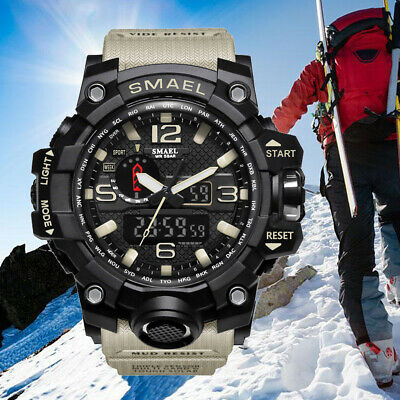 SMAEL Men's Military LED Digital Analog Chrono Tactical Shock Sport Quartz Watch