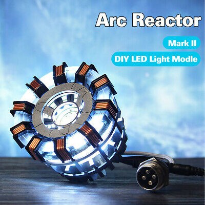 NEW MK2 ARC REACTOR DIY Model Kit LED Chest Light USB Powered Movie MAN Props