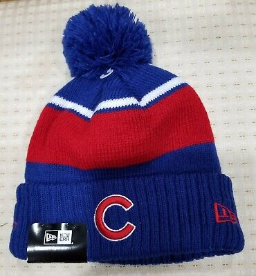 4beee3aa5e0 CHICAGO   CUBS   New Era   Blue red white Beanie   One Size -  15.75 ...