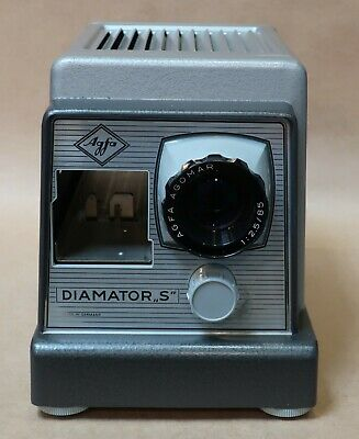Vintage Agfa Diamator S Slide Projector With Case Works Well