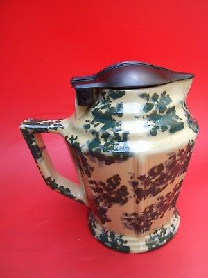 Art Deco Hecla Australian Pottery Green Mottled Electric Water Jug Kettle 1930's
