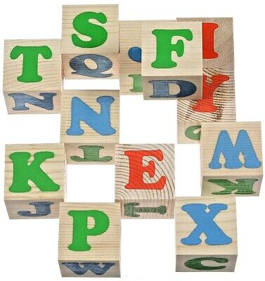 "Wooden educational cubes for children. Cubes ""Alphabet English"""