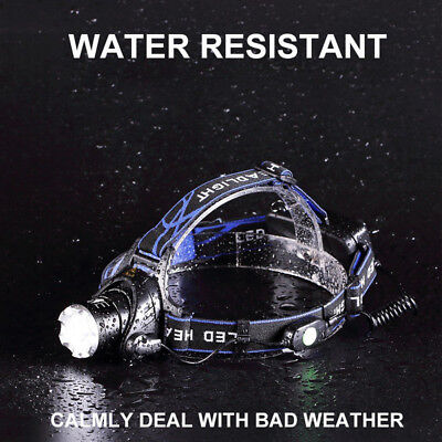 Zoomable LED Headlamp Rechargeable Waterproof  Headlight CREE XML T6 Head Torch