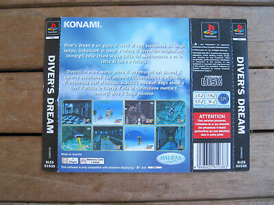 Diver's Dream (1998) Playstation 1 - Rear Cover Originale - No Disco