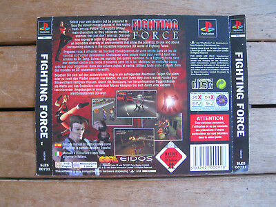 Fighting Force (1997) Playstation 1 - Rear Cover Originale - No Disco