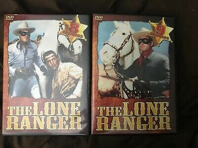 The Lone Ranger DVD 8 Episodes Volume 1.  The Lone Ranger DVD 9 Episodes Volume