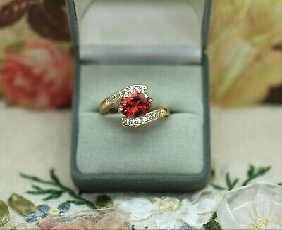 Art Deco Vintage Jewellery Ring Garnet And White Sapphires Antique Dress Jewelry