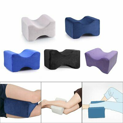 Memory Foam Contour Leg Pillow  Orthopaedic Firm Back Hips Knee Support Cover