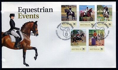 2014 Australia Equestrian Events Set Of 5 First Day Cover, Mint Condition