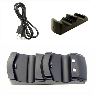 PS4 Dual Controller Fast Charger Charging Dock Station Stand Gamepad DC5V Hot UK
