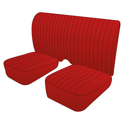 MG TD Leather seats Red - Pair 1949 - 1953 NEW • part number 245-048 Moss Europe