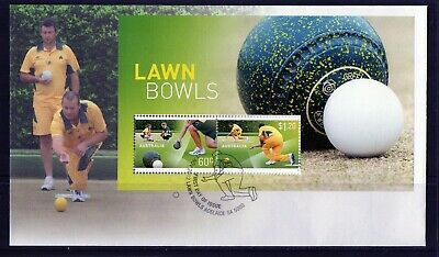 2012 Australia Lawn Bowls Set Of 2 Mini Sheet First Day Cover, Mint Condition