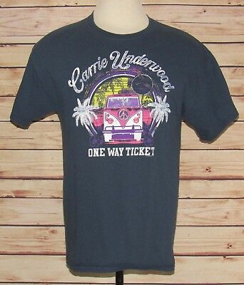 """Carrie Underwood """"One Way Ticket"""" 2012 T-Shirt Men's Size Large"""