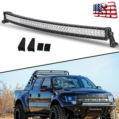 """Offroad 700W 50inch LED Light Bar Curved Flood Spot Combo Truck Roof Driving 52"""""""