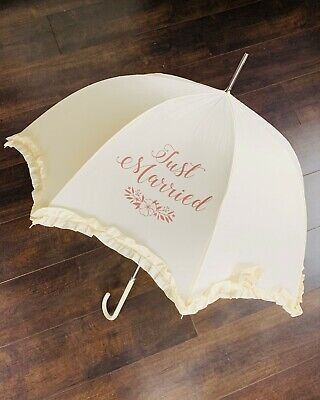 Personalised Wedding Umbrella Wedding Gift For The Bride Rose Gold Accessories
