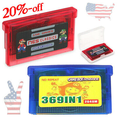 369 in 1 GBA & 150 in 1 NES Games for Nintendo Multicart Cartridge NDS SP GBM US
