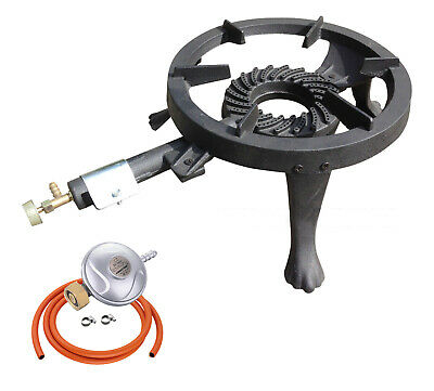 Gas Boiling Ring Cast Iron Large Burner For LPG Cooker Stove Camping GB-24 UK