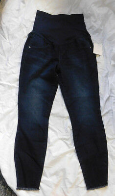 LAUREN CONRAD Womens MATERNITY Dark Wash Full Belly Panel Jeggings Size 10 NWTS!