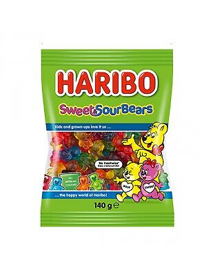 Haribo Sweet And Sour Bears 140g x 14