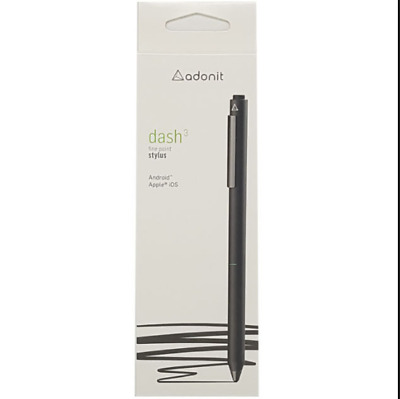 Adonit Dash 3 Fine Point Precision Stylus for iPad iPhone & Android Black TS