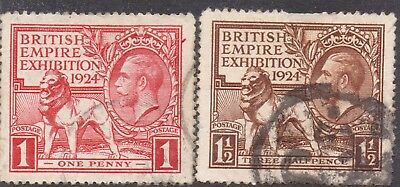1924 Fine Used KGV BEE Set SG430-1 Wmk Block Cypher P14 Lovely REDUCED