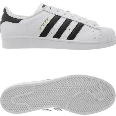 ADIDAS SUPERSTAR WHITE black Men's leather Low Top sneakers