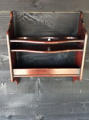 Quality Victorian Mahogany Hanging Shelves Chemist Apothecary Kitchen Bathroom
