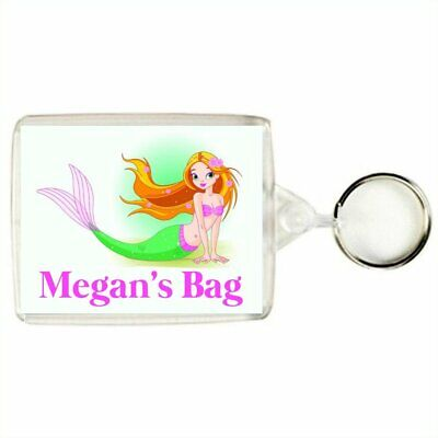 Personalised MERMAID Keyring / Bag Tag