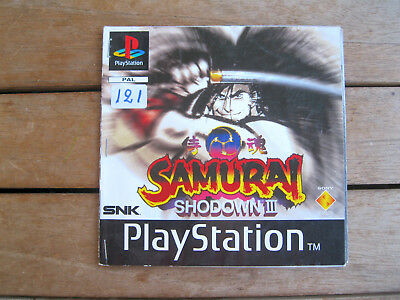 Samurai Shodown Iii (1996) Playstation 1 -Manuale 15 Pagine Originale - No Disco