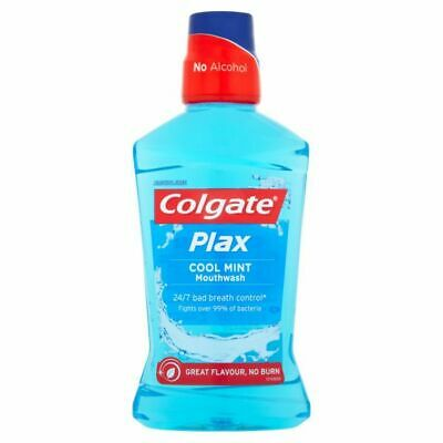 Colgate Plax Cool Mint Mouthwash Alcohol Free 500ml 1 2 3 6 12 Packs