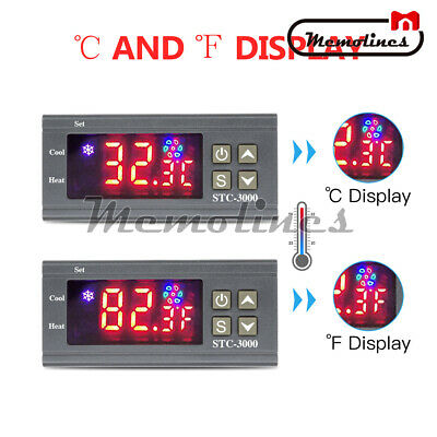 STC-3000 Digital Thermostat Temperature Humidity Thermometer ControllerDC 24V