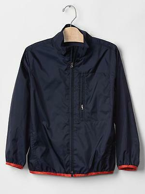 Gap Boys Blue Packable Ripstop Windbreaker Windbuster Org. $39.95 Size 8 Bnwt